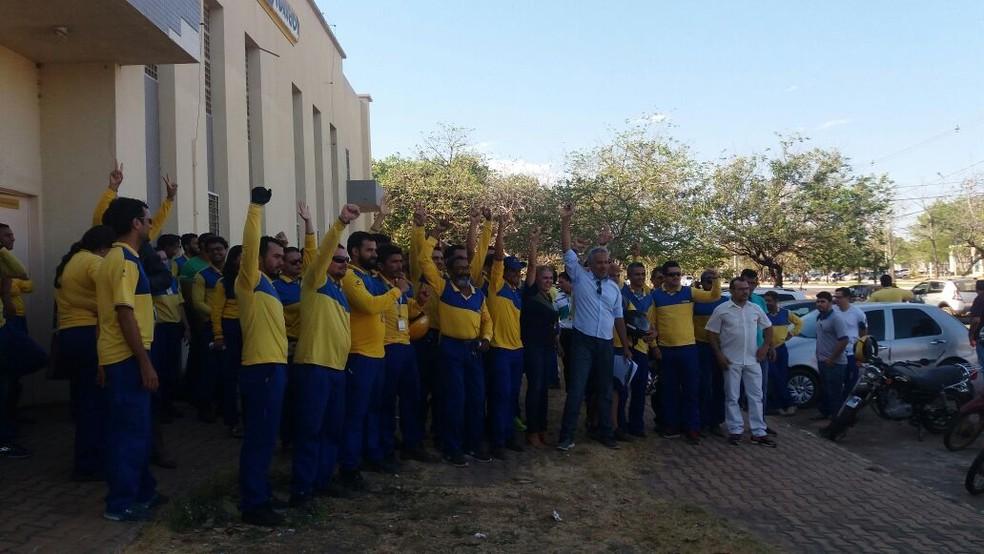 Trabalhadores dos Correios em Tocantins aderiram à greve  (Foto: Sintect/Divulgação)
