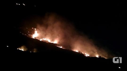 Fogo atinge área do Parque Nacional da Chapada Diamantina
