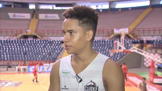 Caçula do B. Cearense se espelha em outro jovem craque e sonha com NBA