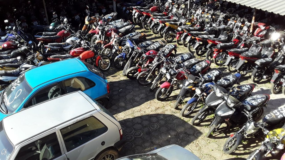 Serão mais de 800 veículos, entre motos e carros, no leilão — Foto: Ronaldo Lima/Arquivo pessoal