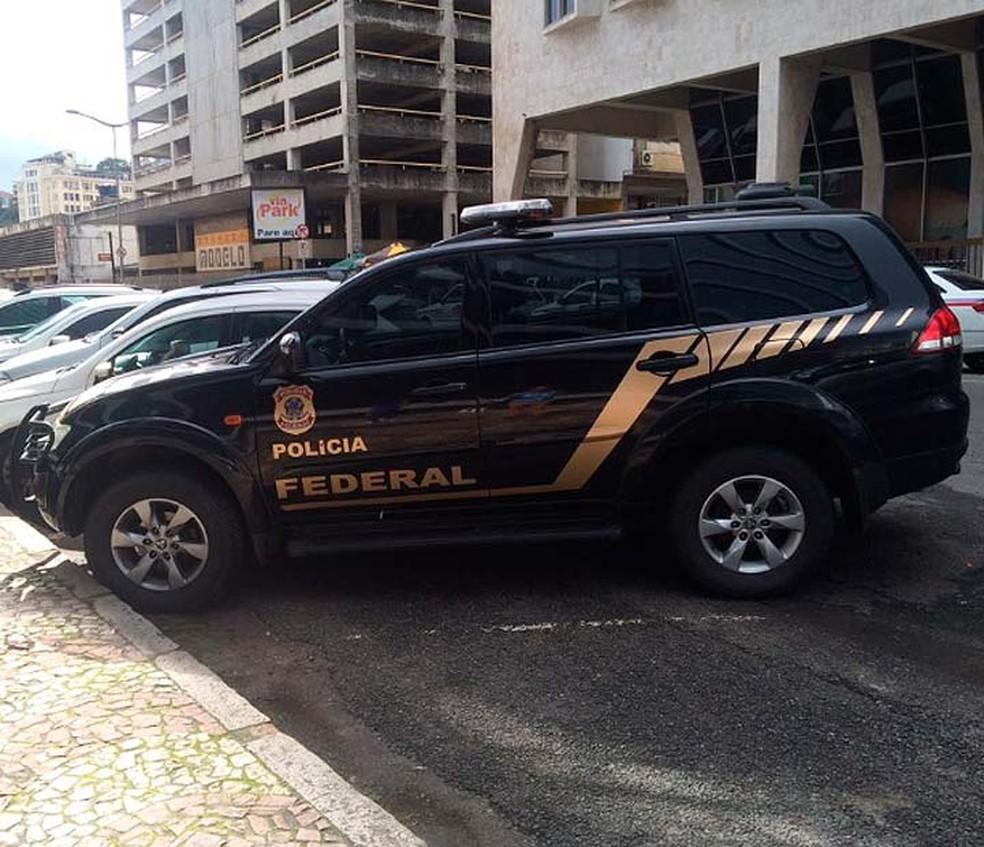 Polícia Federal deflagrou operação contra crime eleitoral no sudoeste da Bahia (Foto: Eduardo Barbosa/TV Bahia)