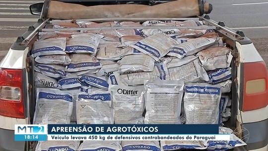 Carga de agrotóxicos contrabandeados é apreendida na BR 163