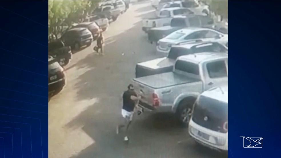 Juiz atirou contra o próprio irmão depois de emboscá-lo em Imperatriz (Foto: Reprodução/TV Mirante)