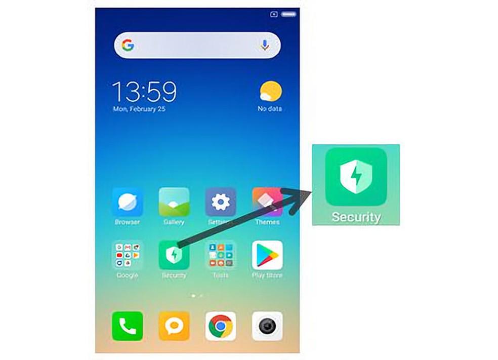 Destaque do ícone do aplicativo de segurança da Xiaomi. — Foto: Check Point