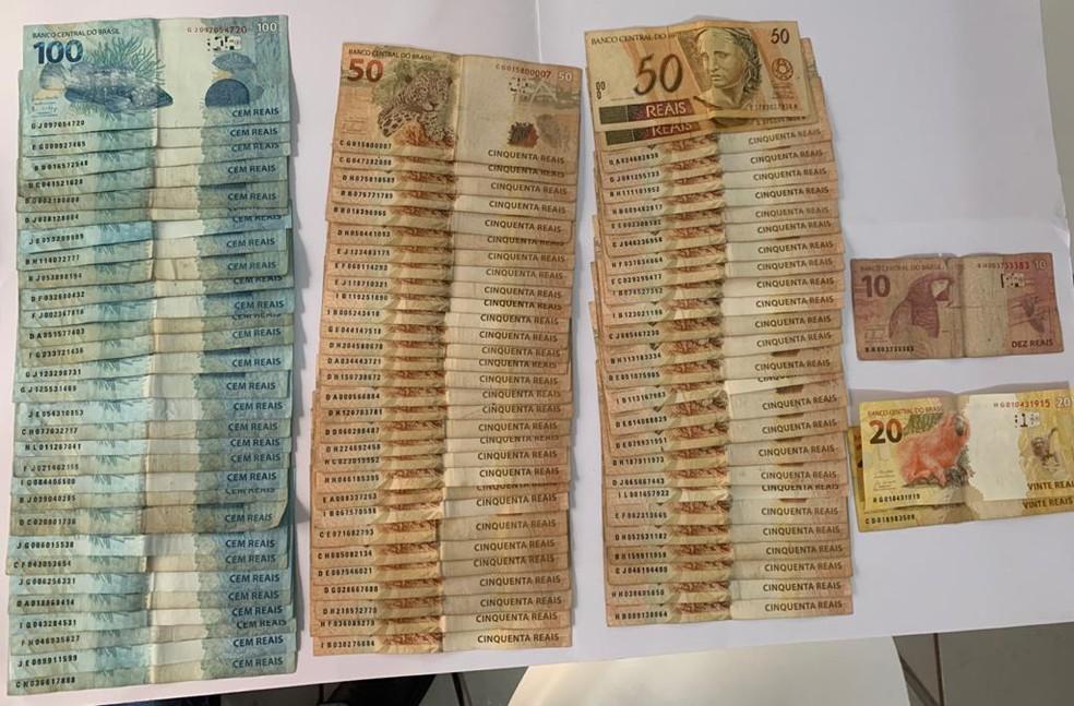 Dinheiro apreendido em operação do Gaeco contra o tráfico de drogas em Jundiaí e Várzea Paulista — Foto: Arquivo pessoal