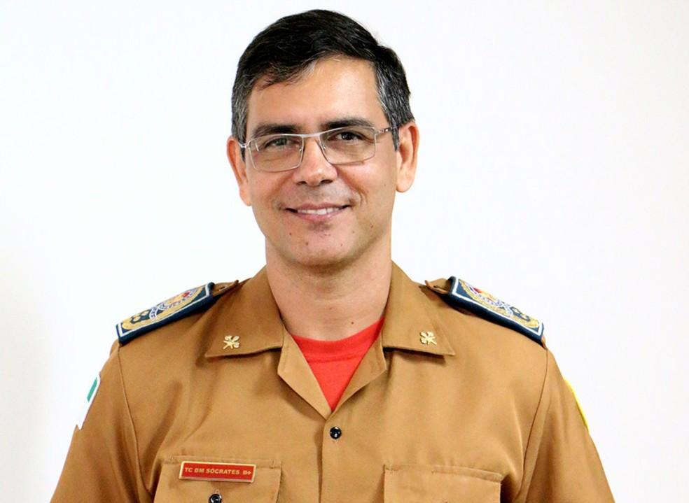 Coronel Sócrates Vieira foi nomeado como novo comandante do Corpo de Bombeiros do RN (Foto: Divulgação/CBMRN)