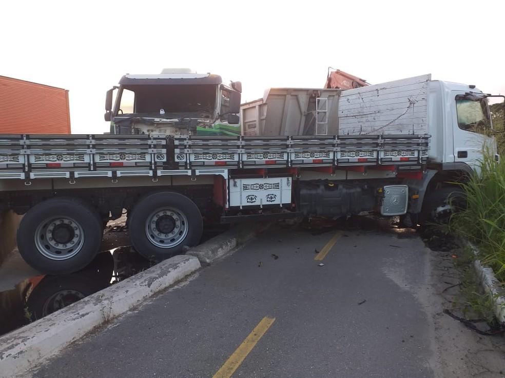 A colisão aconteceu no km 416 do Anel Viário (BR-020), em Maracanaú, na Grande Fortaleza — Foto: Arquivo Pessoal
