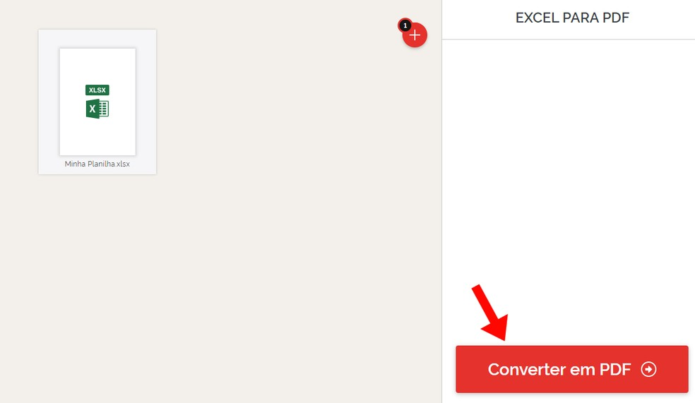 I Love PDF converte o arquivo rapidamente — Foto: Reprodução/Rodrigo Fernandes