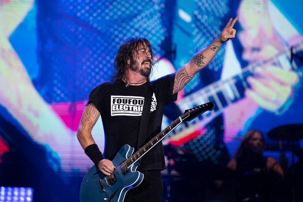 Foo Fighters faz show no Rock in Rio 2019 — Foto: Marcelo Brandt/G1