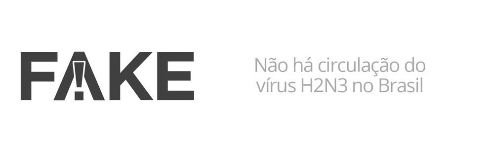 Não há circulação do vírus H2N3 no Brasil (Foto: G1)