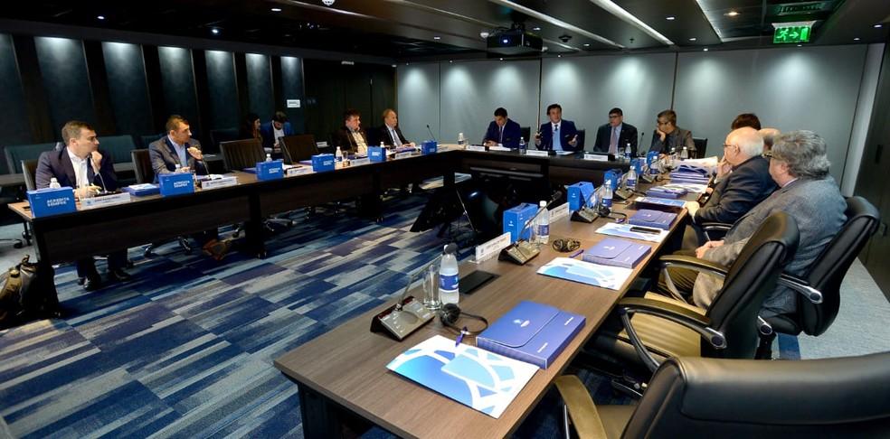 Reunião de clubes na Conmebol avaliou o calendário para 2019 (Foto: Divulgação/ Conmebol)