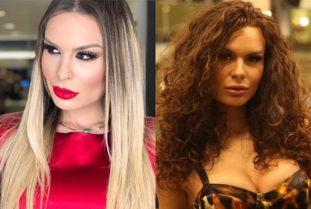 Antes e depois de Fernanda Lacerda, a Mendigat (Foto: Reprodução/Instagram e David Borges)