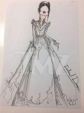 Vestido desenhado por Inbal Dror (Foto: Reprodução/TMZ)