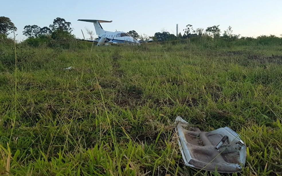 Aeronave que fez pouso forçado em bairro de Campinas — Foto: André Natale/EPTV