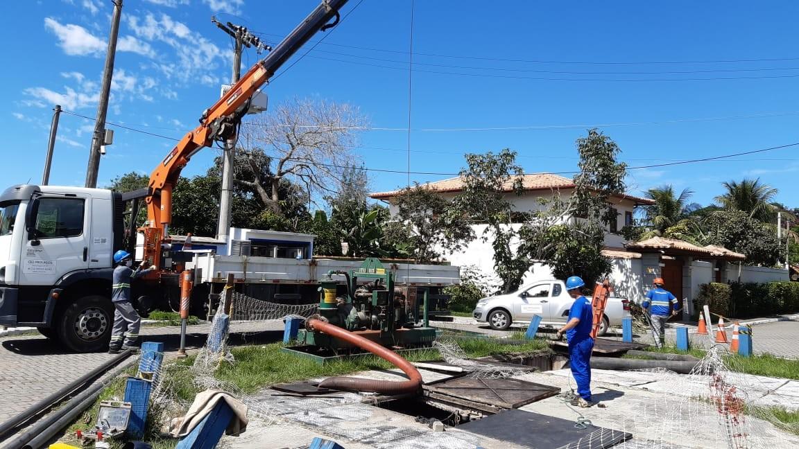 Sistema de esgotamento sanitário da Região dos Lagos recebe melhorias
