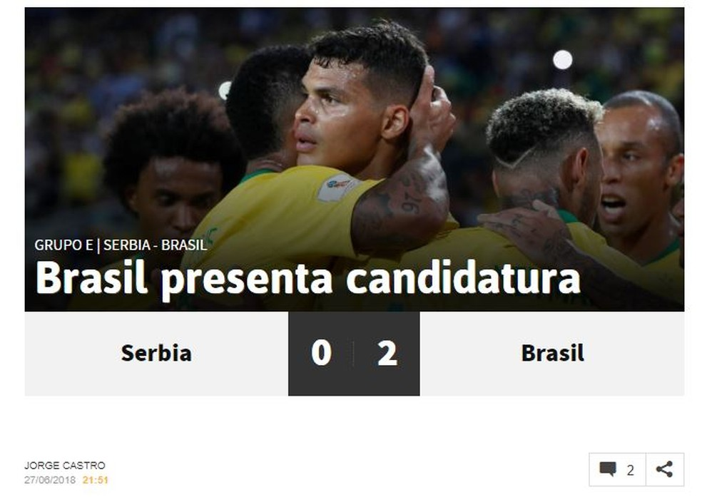 As Brasil x Sérvia (Foto: Reprodução)