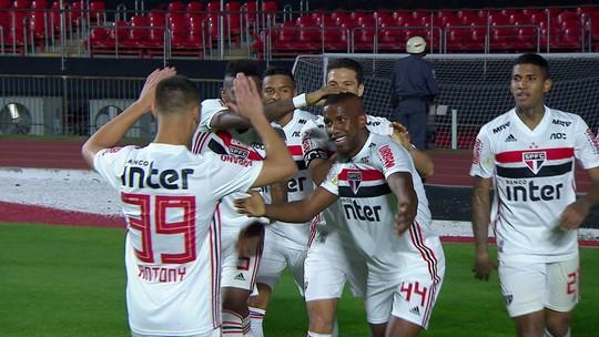Toró chuta de fora da área e faz um belo gol para o São Paulo