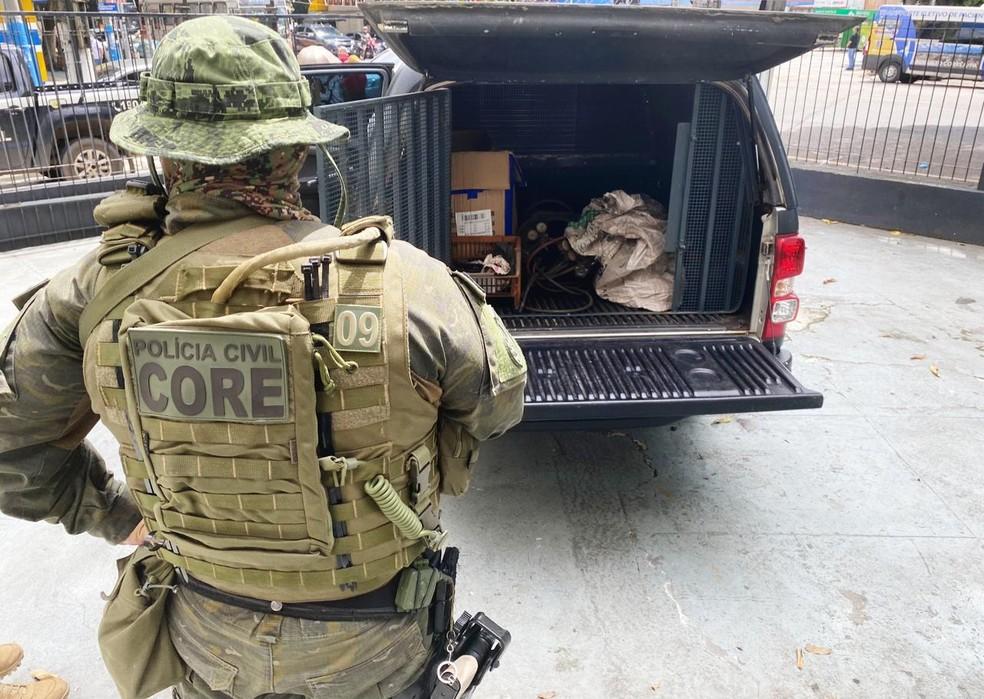 Operação Piedade prende três pessoas em Belém — Foto: Ascom/ PC
