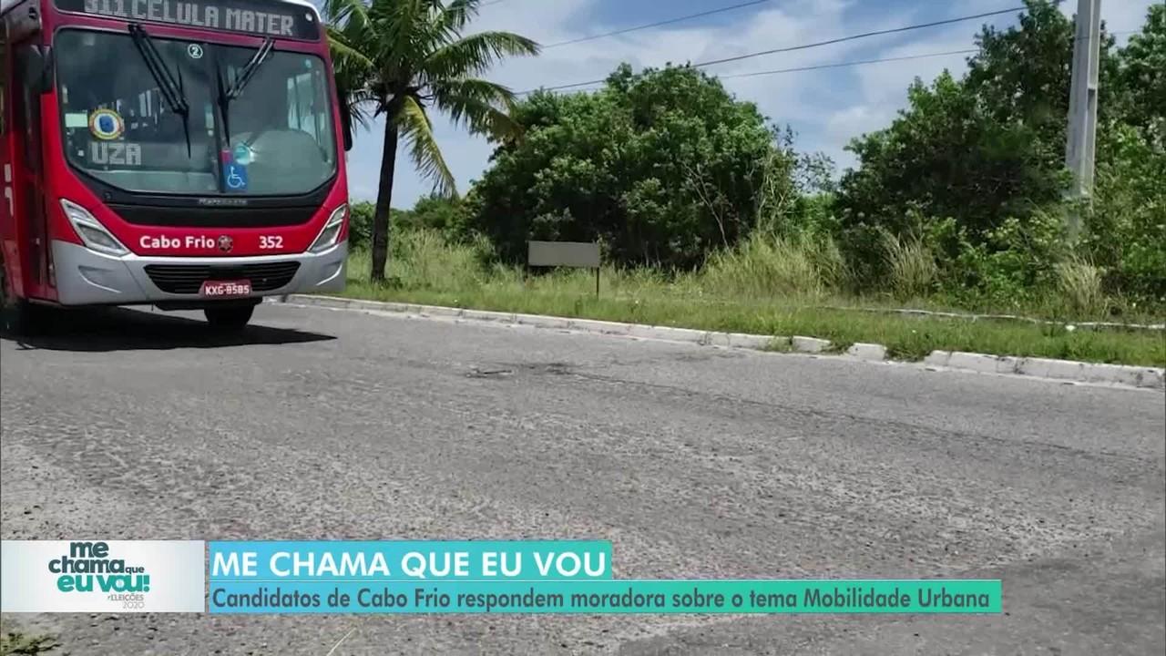 'Me chama que eu vou': candidatos de Cabo Frio respondem moradora sobre Mobilidade Urbana