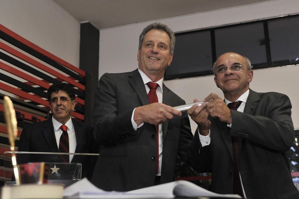 Rodolfo Landim e Eduardo Bandeira de Mello — Foto: FotoBR
