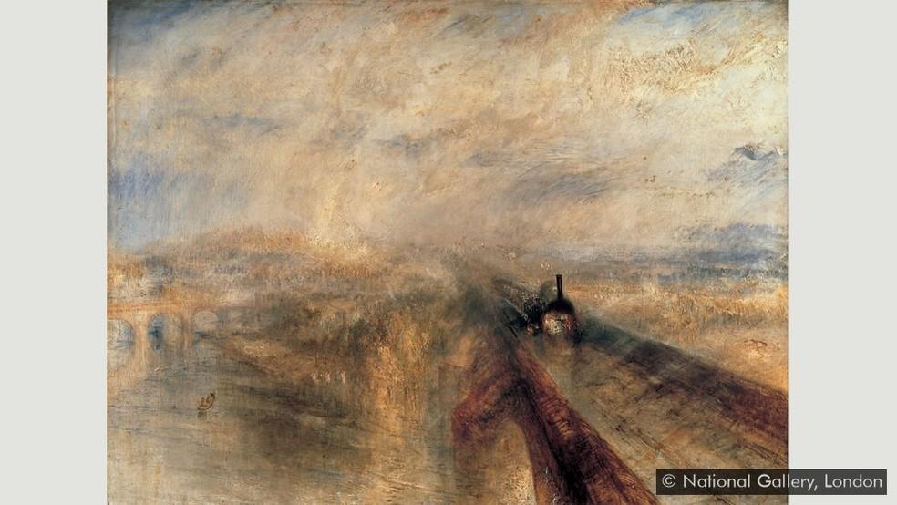 'Chuva, vapor e velocidade – A grande estrada de ferro do oeste' — Foto: National Gallery, Londres