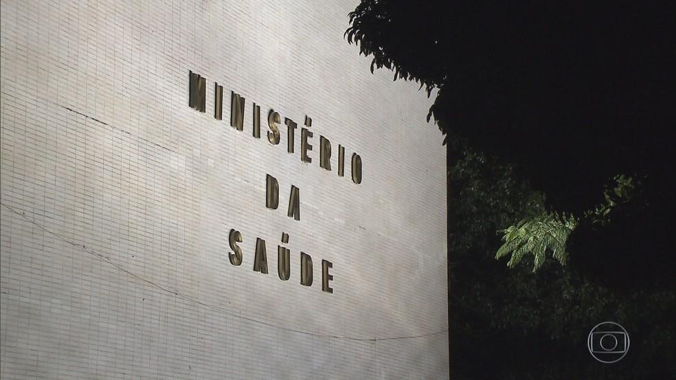 Prédio do Ministério da Saúde, em imagem de arquivo — Foto: Rede Globo