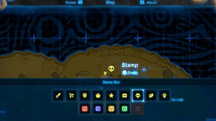 The Legend of Zelda: Breath of the Wild: use as stamps para marcar pontos de interesse (Foto: Reprodução / Thomas Schulze)