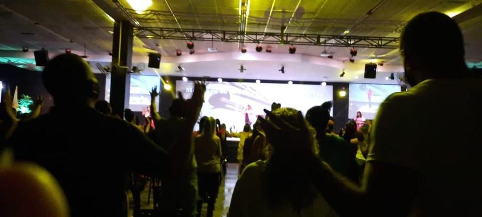 Prefeita de Bauru canta em evento de igreja evangélica  — Foto: Arquivo Pessoal