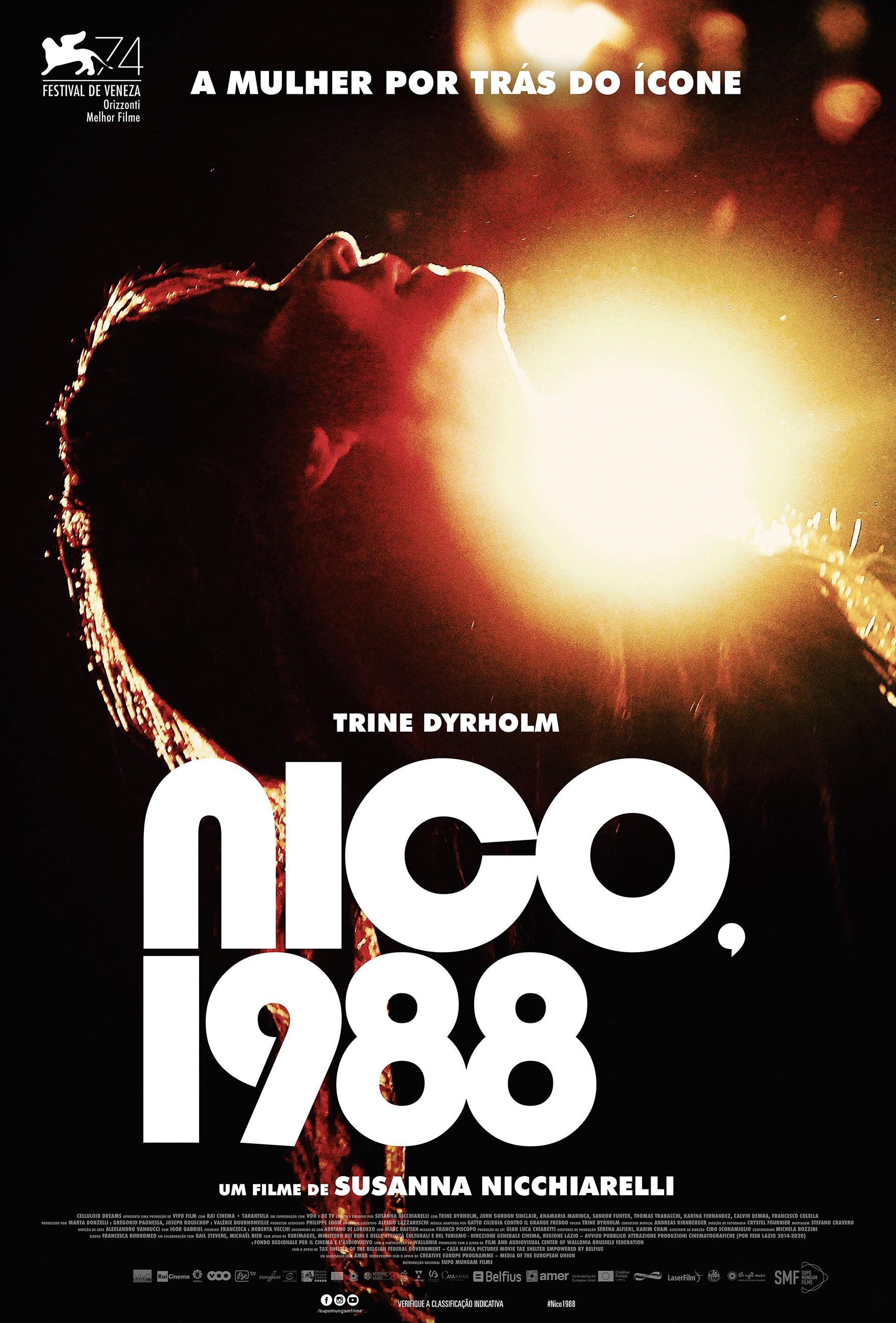 Pôster do filme Nico, 1988, de Susanna Nicchiareli (Foto: Divulgação)