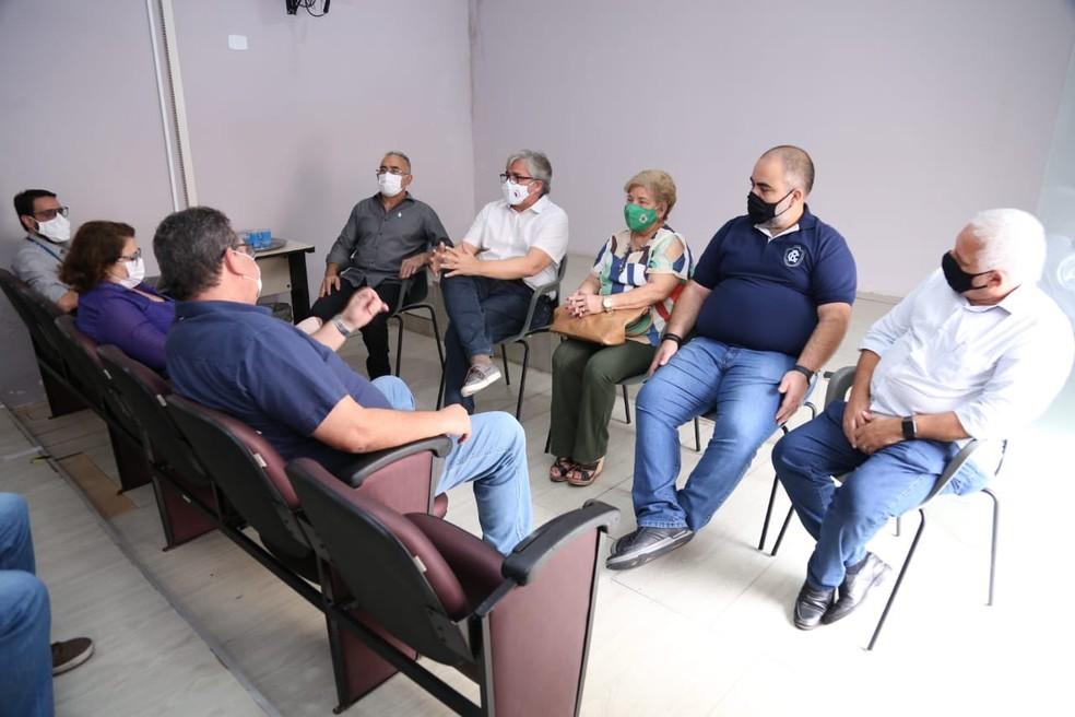 Reunião entre a Prefeitura de Belém e os clubes da capital — Foto: Reprodução/Twitter