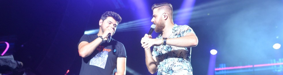 Zé Neto e Cristiano no último show do FV20 — Foto: Joilson César/Ag Haack