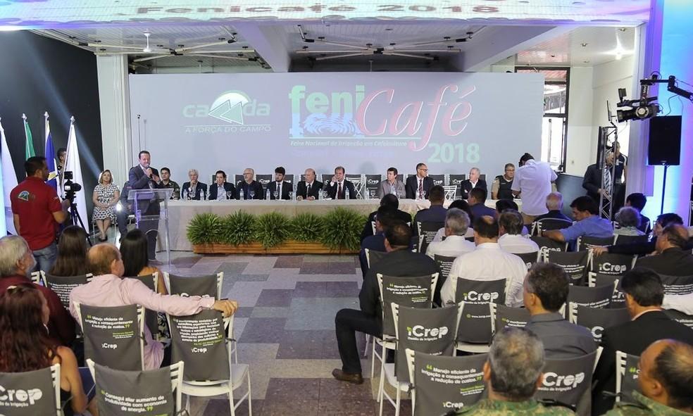 -  Abertura da feira foi nesta terça-feira  14   Foto: Fenicafé/Divulgação