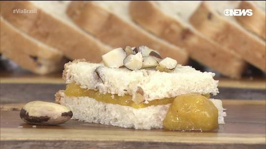 Aprenda a fazer pão de castanha-do-pará com geleia de araçá-boi