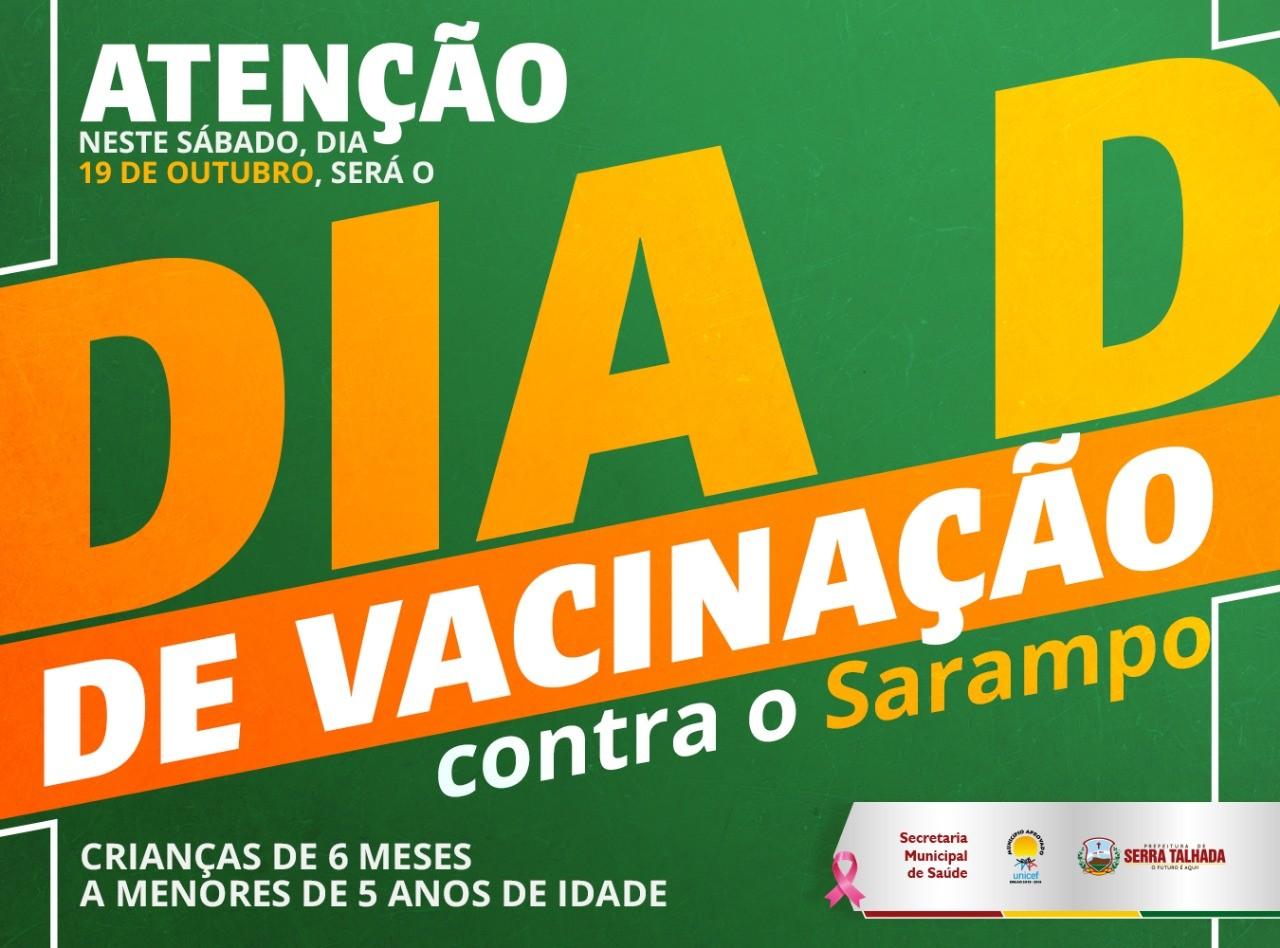 Dia 'D' da campanha de vacinação contra o sarampo é realizado em Serra Talhada - Notícias - Plantão Diário
