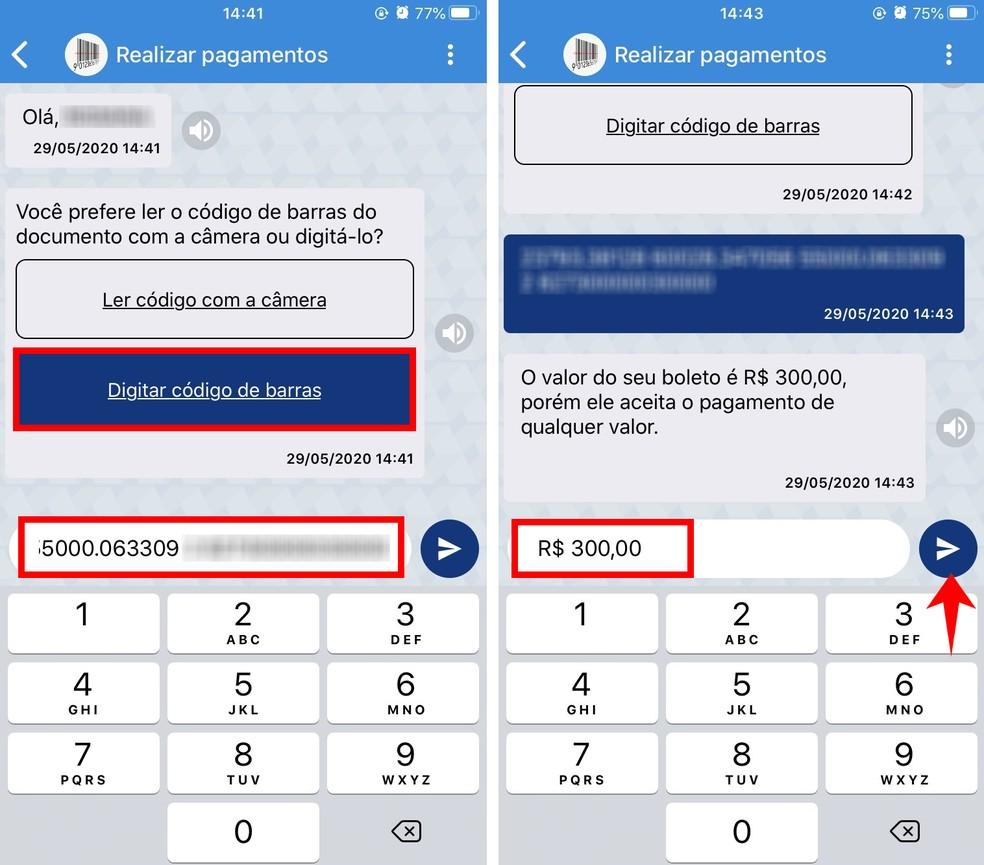 Caixa Tem: como pagar boleto pelo app da Caixa com o número do código de barras — Foto: Reprodução/Rodrigo Fernandes