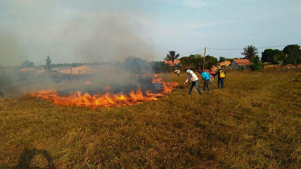 -  Voluntários tiveram aulas teóricas e práticas no curso de combate a incêndios  Foto: Samuel Alvarenga/Secom/Divulgação