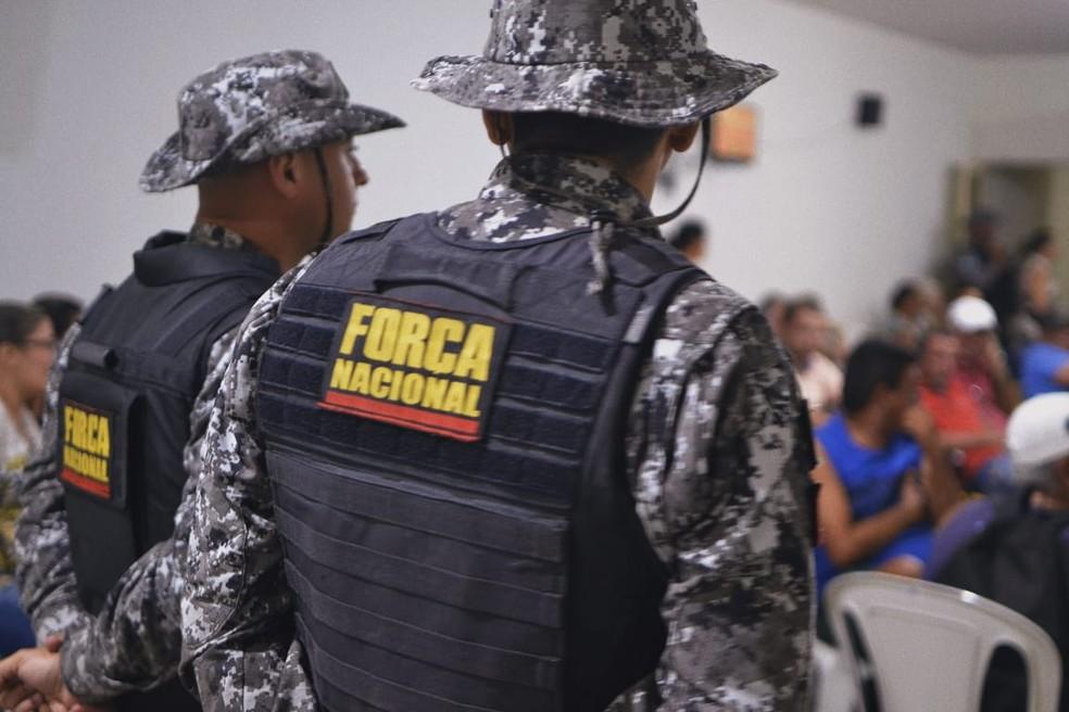 Vinte e quatro máquinas foram apreendidas pelos policiais da Força Nacional — Foto: Acson Freitas/Inter TV Cabugi
