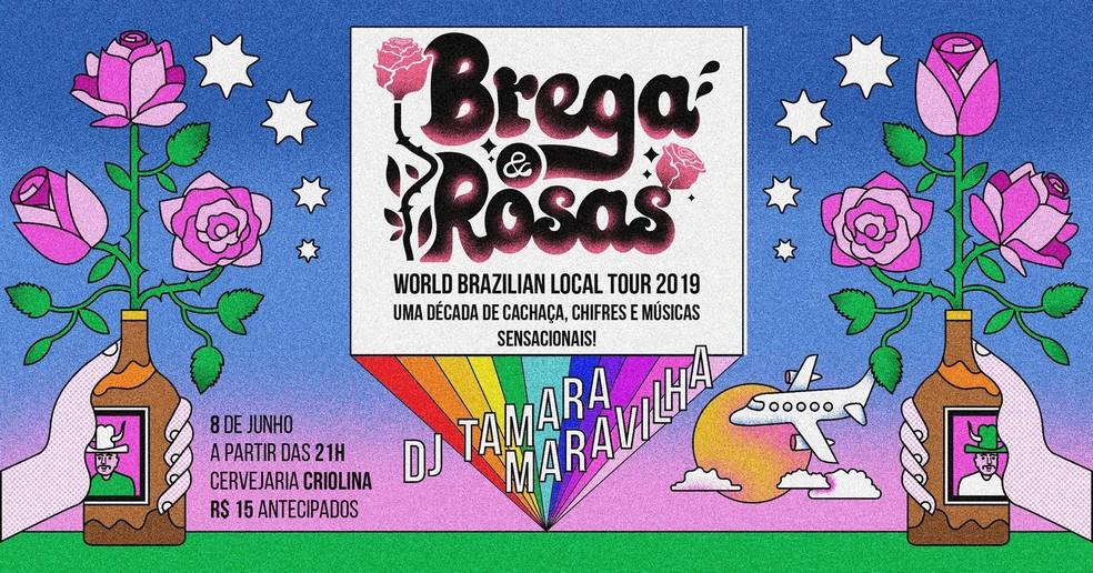 Turnê de 10 anos da banda brasiliense Brega & Rosas — Foto: Brega & Rosas/Divulgação