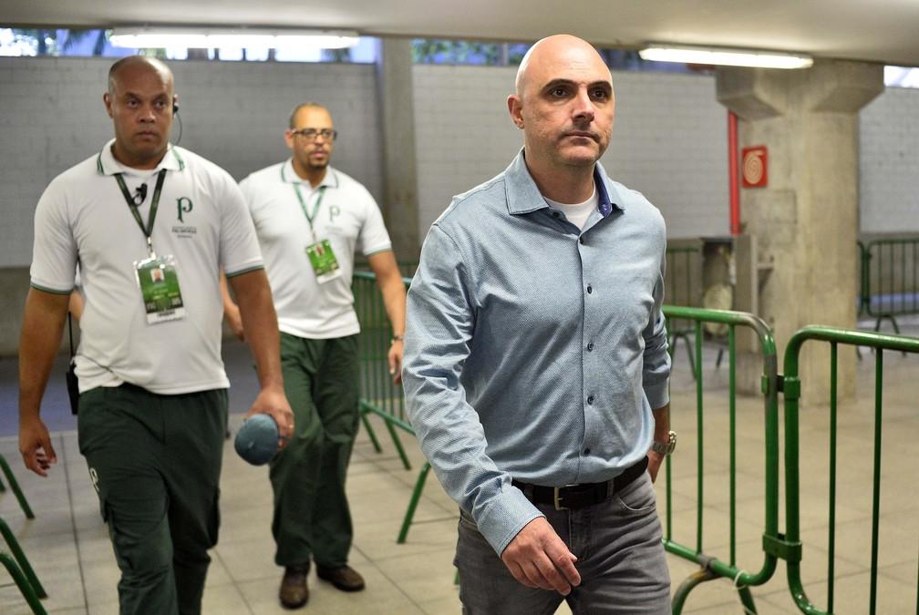 Maurício Galiotte, presidente do Palmeiras — Foto: Marcos Ribolli