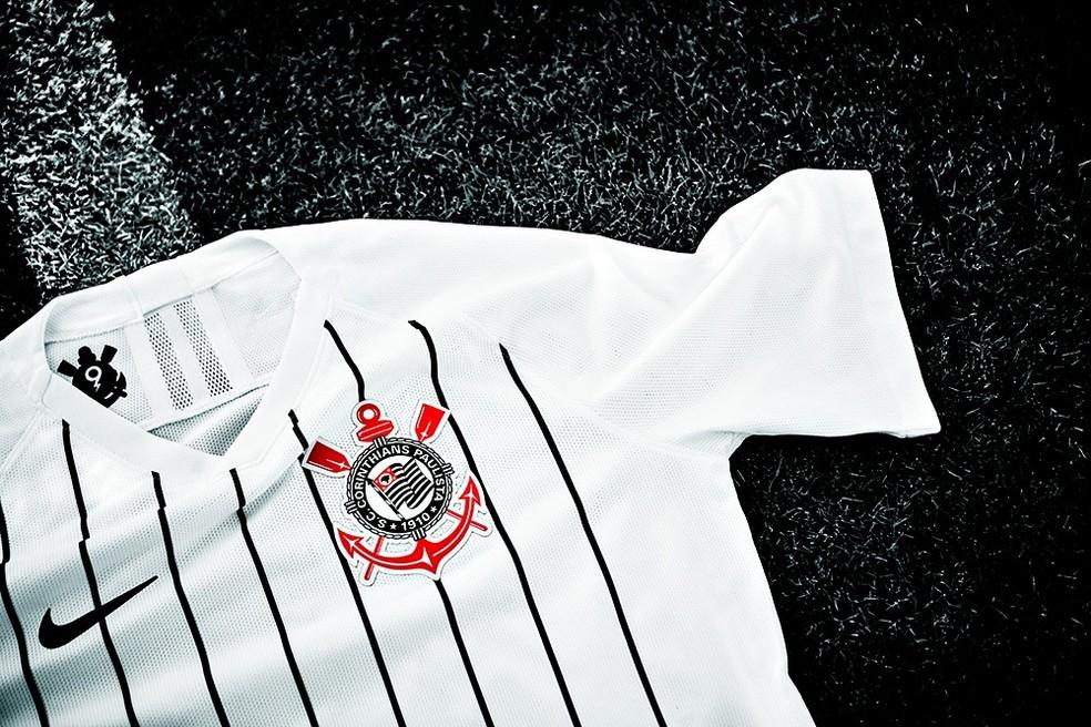 7c08927b3 Camisa do Corinthians terá patrocínio novo na região do peito — Foto   Divulgação
