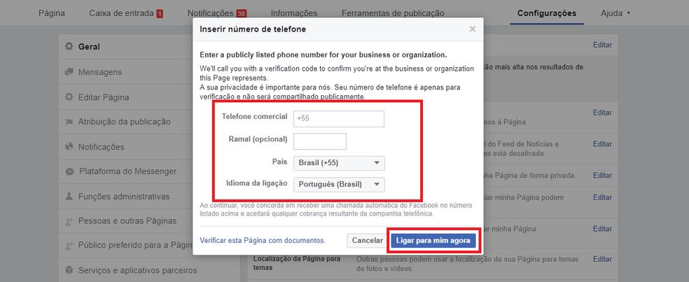 Como verificar uma página no Facebook (Foto: Reprodução/Luana Marfim)
