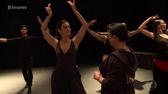 Fátima Bernardes volta aos palcos após 40 anos e aprende a dançar flamenco