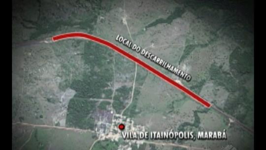 Vagões de trem descarrilham e interrompem operação em ferrovia de Marabá