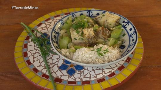 Bacalhau com chuchu é prato da Quaresma em Lavras Novas