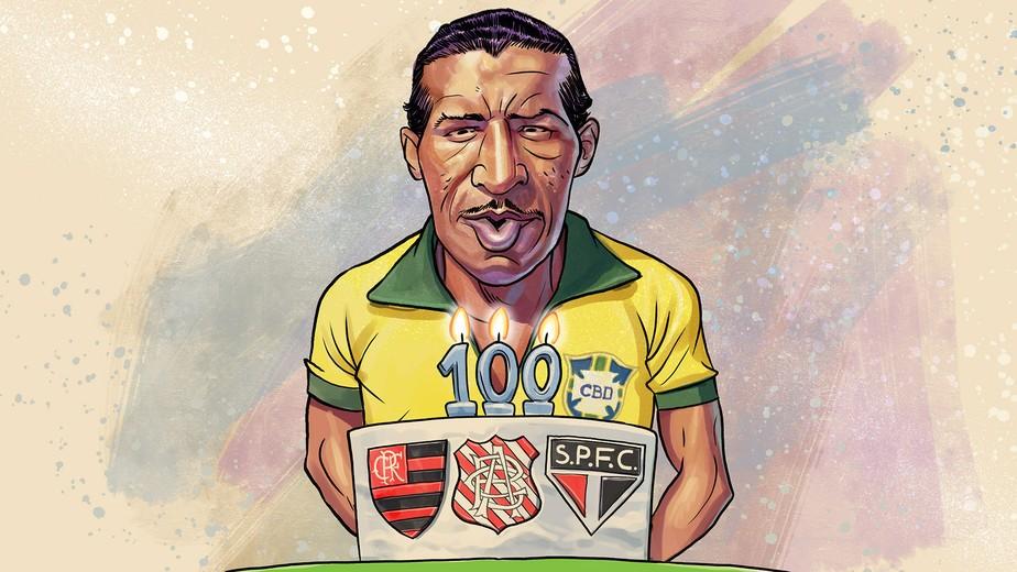Melhor da Copa de 1950 e ídolo de Flamengo, Bangu e São Paulo, Zizinho completaria 100 anos hoje