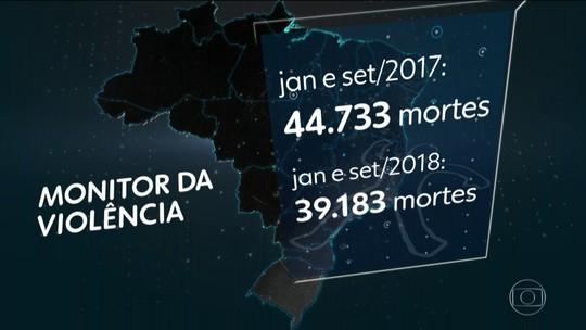 Brasil registra redução no número de mortes violentas nos nove primeiros meses do ano