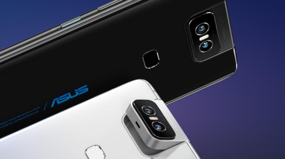 Zenfone 6 tem câmera dupla de 48 MP e 13 MP para fotos comuns e selfies — Foto: Divulgação/Asus