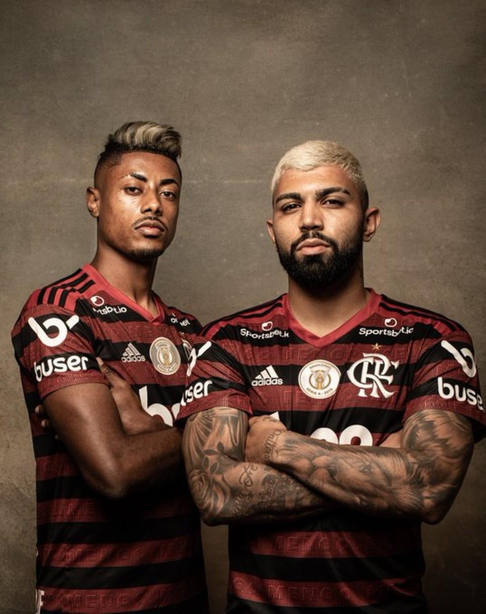 Bruno Henrique, Gabigol, Flamengo — Foto: Divulgação / Conmebol
