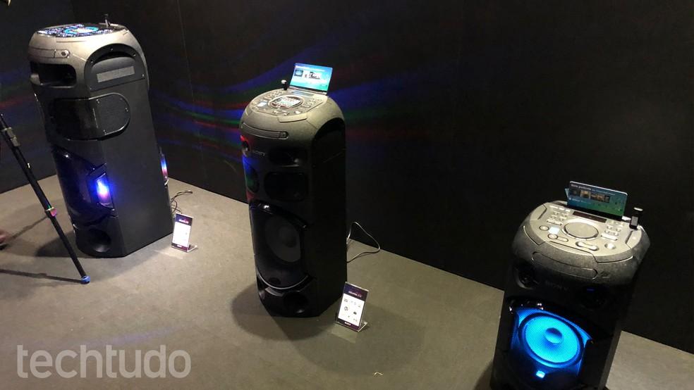 Nova linha de Mini Systems da Sony  (Foto: Anna Kellen Bull/TechTudo)