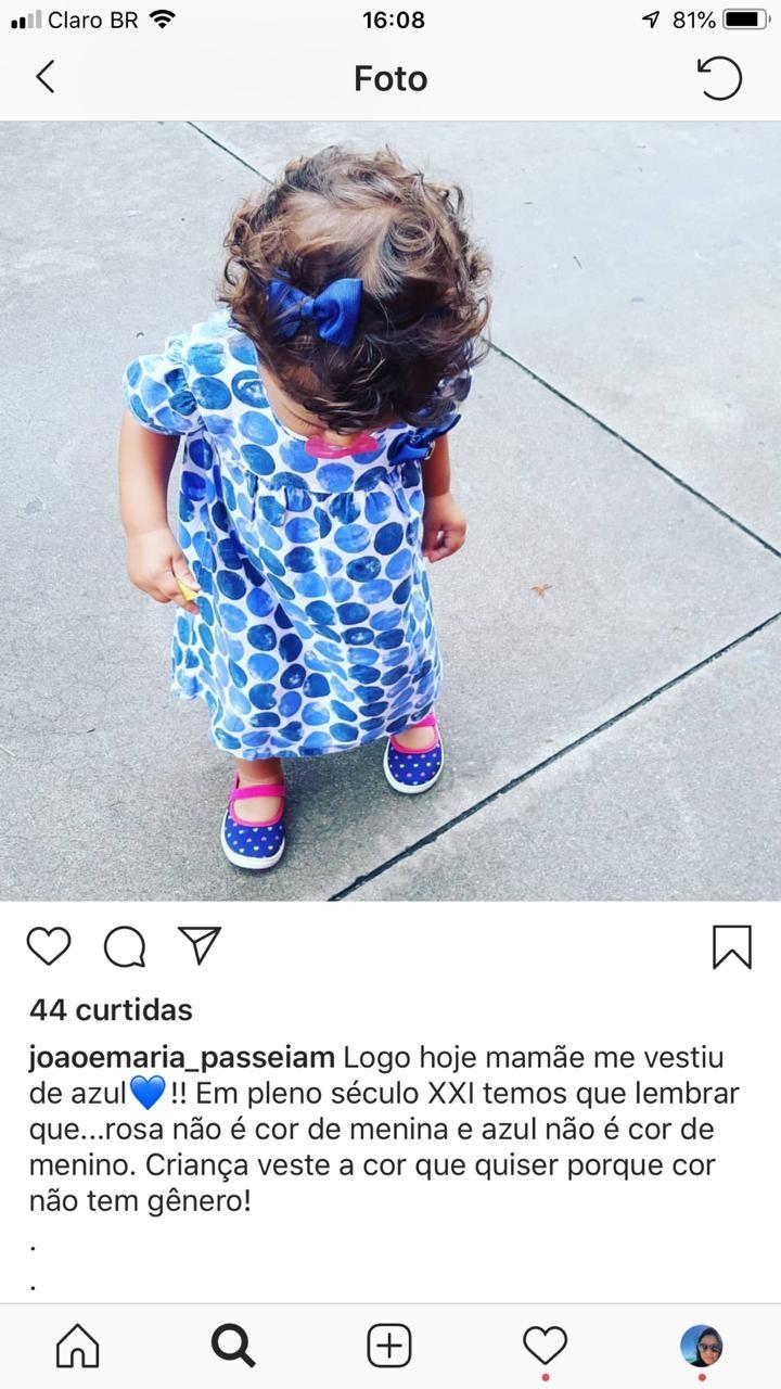Menina de azul (Foto: reprodução instagram)
